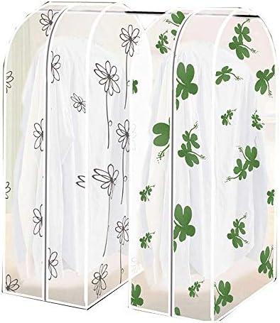 収納 洋服カバー衣類収納ケース ホコリ防止 出し入れラクラク 2セットの明確な布衣服ラックカバーホーム寝室服ラック保護カバー (Color : Random, Size : 60*30*110cm)