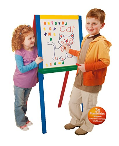 Crayola 3-in-1 Magnetic Wood Easel with Letters and Chalk