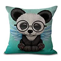 HomeTaste Cute Elephant Panda Bunny Moose Decorative Throw Pillow Cover for Bed Couch Sofa