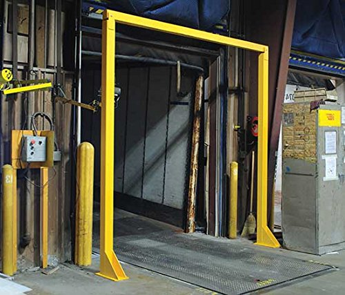 Dock Door Warning - BDWB Series; Useable Door Width: 8'; Usable Door Height: 10'; Wooden Beam: 4'' x 4''; Painted Finish: Safety Yellow; Bolts Required: 8 by Beacon World Class Products