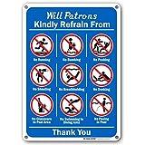 Swimming Pool Rules - No Running, Pushing, Diving Sign - 10