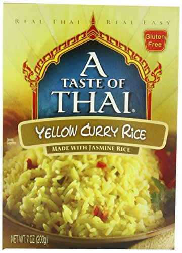 A Taste of Thai Yellow Curry Rice, 7 oz Box, 6 - Rice Paste