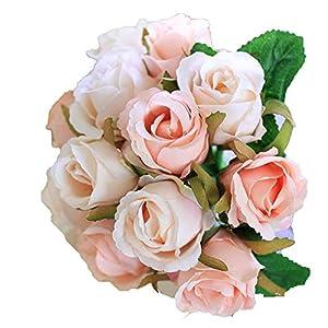 ALISHA BRYANT White Wedding Flowers Bridal Bouquets Accessories Bouquet Wedding Supplies Artificial Flowers,Pink 15