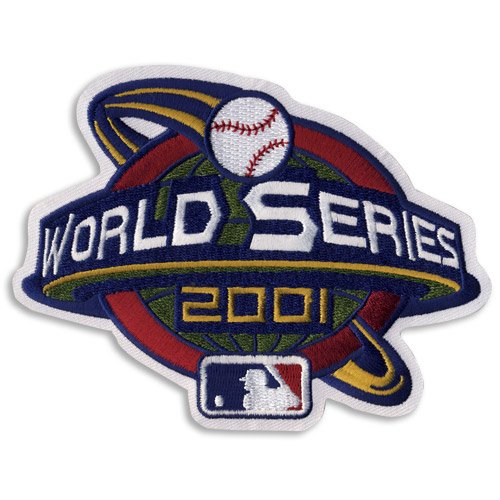 2001 MLB World Series Logo Jersey Patch Arizona Diamondbacks vs. New York Yankees