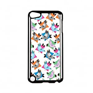 Pigeons Black Hard Plastic Case Snap-On Protective Back Cover for Apple® iPod Touch 5th Gen by Nick Greenaway + FREE Crystal Clear Screen Protector
