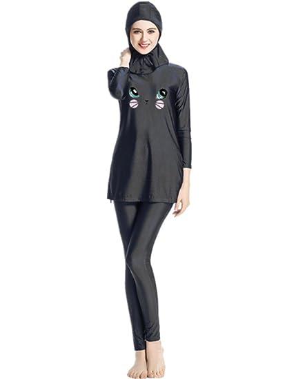 nadamuSun Maillots de Bain Musulman Femmes Filles Maillot de Bain Muslim Swimwear Filles Dames Modeste Couverture compl/ète Beachwear Burqini Burkini