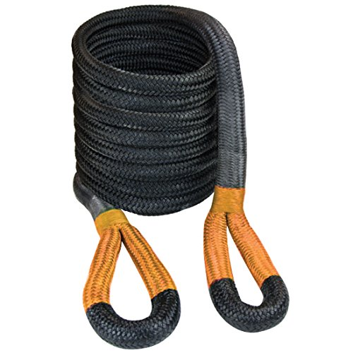 "VULCAN 1 1/4"" x 30' Off-Road Double Braided Recovery Rope – 52300 lbs. Breaking Strength – Black, Orange by Vulcan Brands"