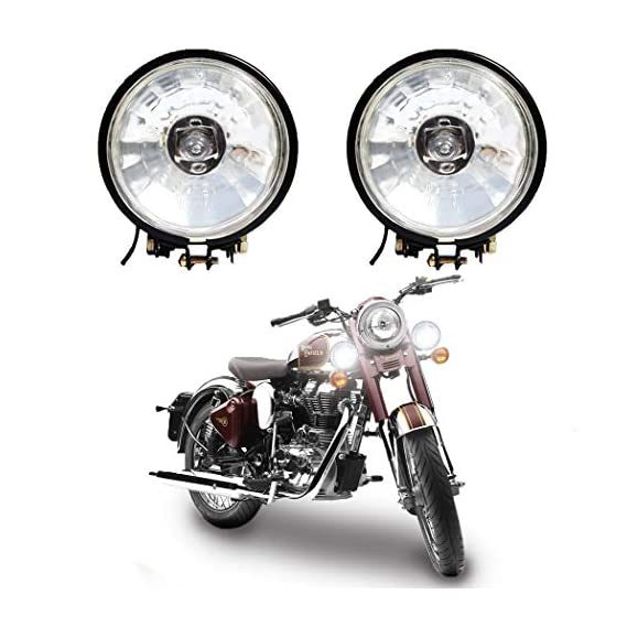 VAISHNU Fog Lights(Made in INDIA) For Bikes/Cars with German Imported 55 Watt/ 12V H3 Bulb | Waterproof & Heavy Duty