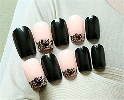 24Pcs/Set Cream Nude Pink Pure Color 3D Fake Nails Cute French False Nails With Sided Adhesive Middle-Long Full Nail Tips Bride AL01