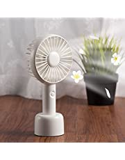 Insten Mini Portable Handheld USB Cooling Fan with Removable Aroma Diffuser, Desk Table Fan with Stand Base, Rechargeable Battery for Traveling, Music Festival, Preventing from Heat Stroke, White
