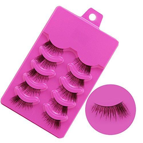 Sale Korea Z-21 5 Pairs Half Corner False Eyelashes beauty Lashes Fake Eye Lashes Clear band