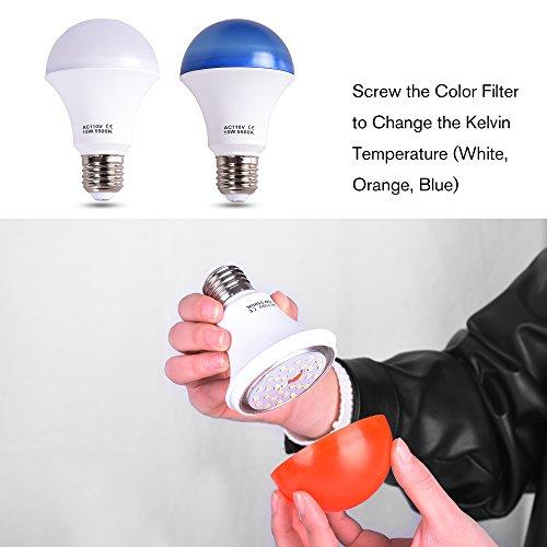 Emart Studio LED Photography Umbrella Lighting Kit, 500W 5500K LED Photo Lights for Camera Lighting, Continuous Lighting, Portrait Video Shooting – Umbrella Reflector Light by EMART (Image #2)