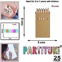 Piñata Cumpleaños Infantil Partituki. 25 Sets de 6 Lápices de Colores y una Guirnalda de 3mts. Ideal como Detalles para Niños, Fiesta Cumpleaños ...