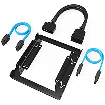 Sabrent 3.5-Inch to x2 SSD 2.5-Inch Internal Hard Drive Mounting Kit SATA and