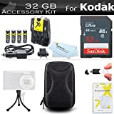 32GB Accessory Kit For Kodak PIXPRO FZ43 FZ41, EasyShare C1530 Digital Camera Includes 32GB High Speed SD Memory card + 4AA High Capacity Rechargeable NIMH Batteries And Rapid Charger + Case + More