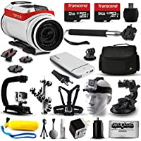 TomTom Bandit 4K HD Action Camera + Ultimate 20 Piece Accessories Package with 96GB Memory + Travel Case + USB Portable Charger + Head/Chest Strap + Opteka X-Grip + Car Mount & More!