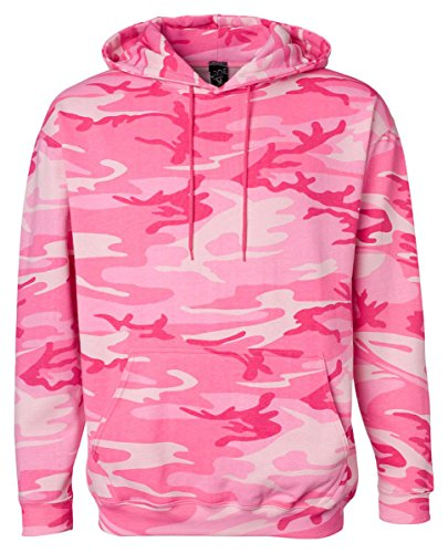 Code Five Camouflage Pullover Hooded Sweatshirt, Medium, PINK WOODLAND