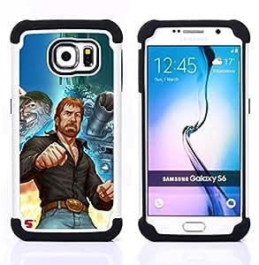 - tough man kung fu martial arts tank ussr/ H??brido 3in1 Deluxe Impreso duro Soft Alto Impacto caja de la armadura Defender - SHIMIN CAO - For Samsung Galaxy S6 G9200