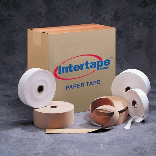 Intertape T1000CW Convoy Light Duty Gum Side Out Tape, 500' Length x 1'' Width, White (Case of 30) by Intertape