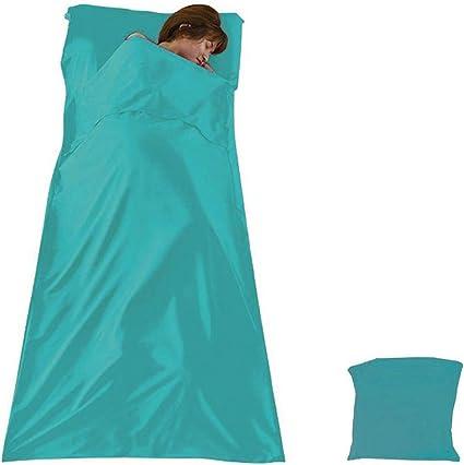100/% silk sleeping bag liner in green Fairly made