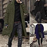 Fashion Men Loose Warm Plush Cardigan Long Furry Double-Sided Coat Tops Blouses