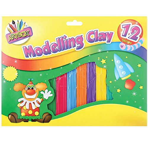 ArtBox Colourful Modelling Clay (12 Strips) (One Pack) (Multicolored)