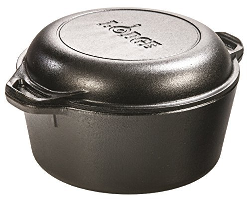 Lodge L8DD3 Double Dutch Oven and Casserole with Skillet Cover, 5-Quart by Lodge (L8dd3 Lodge Double Dutch Oven compare prices)