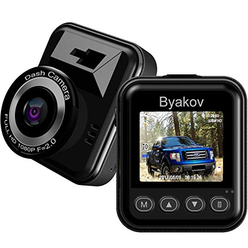 Byakov Dash Cam, FHD Car Driving Recorder Camera with 170° Wide Angle,1.5 inch Screen, Motion Detection, G-Sensor, Loop Recording, Night Vision