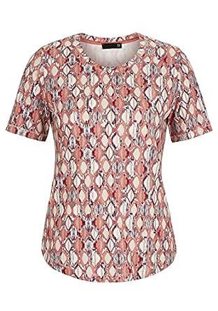 7e7b818fd199cc Thomas Rabe Damen T-Shirt mit Wabenmuster und Rundhalskragen  Amazon ...