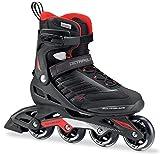 Rollerblade Zetrablade Skate - 4x80mm/84A Wheels - SG 5 Performance Bearings - Black/Red - US Men's 11 (29.0)