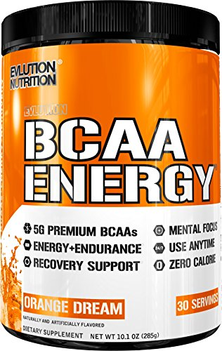 Evlution Nutrition BCAA Energy - High Performance, Energizing Amino Acid Supplement for Muscle Building, Recovery, and Endurance (30 Servings) Orange Dream