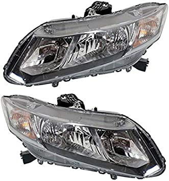 96 97 98 Civic Headlight Headlamp Front Head Light Lamp Left Right Side SET PAIR