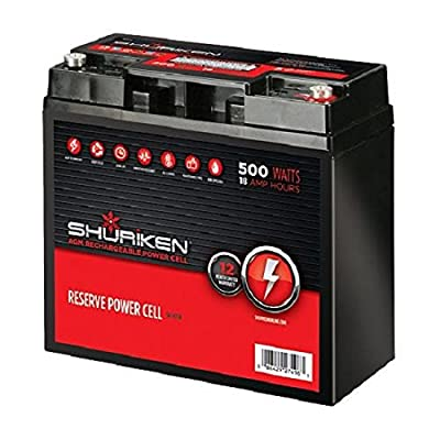 Shuriken 12-Volt High Performance AGM Power Cell Battery for Systems Up To 500-Watts
