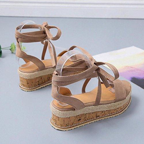 Mode Romaines Sangle Épaisse Simple Croisée Bovake Femme Marron Bouche Couleur Poisson Sandales Chaussures Unie SznExqwP0