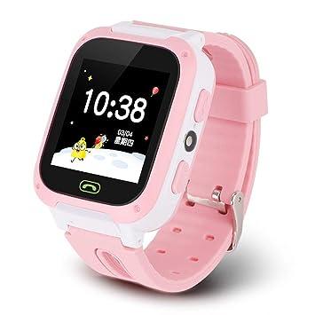 Goglor Teléfono Smartwatch para niños, LBS/GPS Rastreador a Prueba de Agua Pantalla táctil SOS Reloj Despertador Cámara Inteligente Reloj Llamada ...