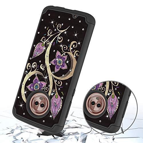 Double Fleur Couche Bumper Arrire Moto Modle G6 PC Dreamcatcher TPU Protecteur Yobby Diamant G6 pour Antichoc Case Svelte Coque Hybride avec Play Paon Dur Moto Play tui Coque Housse Doux SSqCnOwx6
