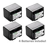 Kastar Battery (4-Pack) for Canon BP-727, BP-718, BP-709, CG-700 and Canon VIXIA HF M50, HF M52, HF M500, HF R30, HF R32, HF R40, HF R42, HF R50, HF R52, HF R60, HF R62, HF R300, HF R400, HF R500, HF R600 Cameras