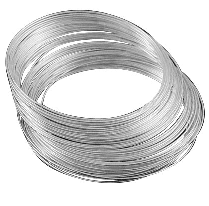 DIY Jewelry Making: 25 Circles of Stainless Steel Memory Wire, Silver Color Bracelets Making, Nickel Free, Nickel