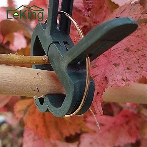 Best Garden Tools 20pcs/Set Plastic Garden Plant Flower Vegetable Bush Clips 45mm & 30mm Ties Garden Supplies