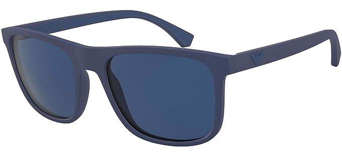 Gafas de Sol Emporio Armani EA 4129 BLUE/BLUE hombre: Amazon ...