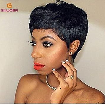 P Gilormini Pixie Bob Afro Perruques Cheveux Coupés Courts