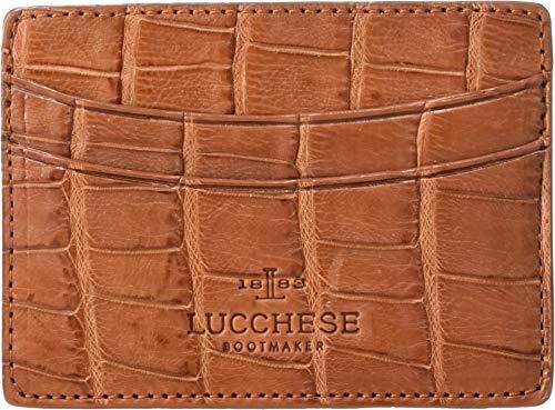 Lucchese Men's Croco Card Case Cognac One Size