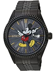 Invicta Men's Disney Limited Edition Mickey Mouse 43mm Stainless Steel Quartz Watch, Black (Model: 22771)