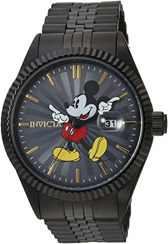 Invicta Men's 'Disney Limited Edition' Quartz Stainless Steel Casual Watch, Color:Black (Model: 22771)