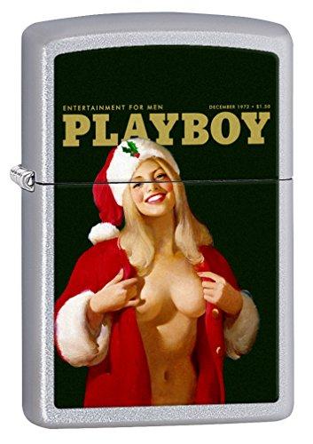 Zippo Lighter: Playboy Cover December 1972 - Satin Chrome 77937