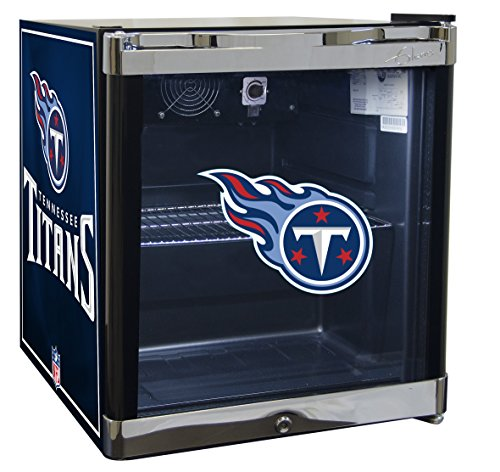 Tennessee Titans Cd - GLAROS Officially Licensed NFL Beverage Center/Refrigerator (Tennessee Titans)