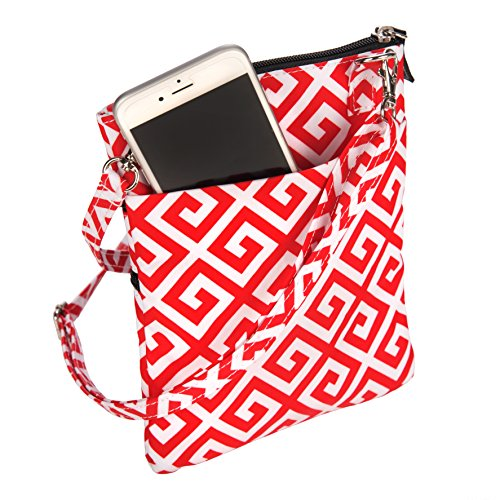 Zips Closed Rush SCOUT Bag Sally Lightweight Adjustable Strap Lightly Crossbody Resistant Red Go Water Pocket Multi 6r06x