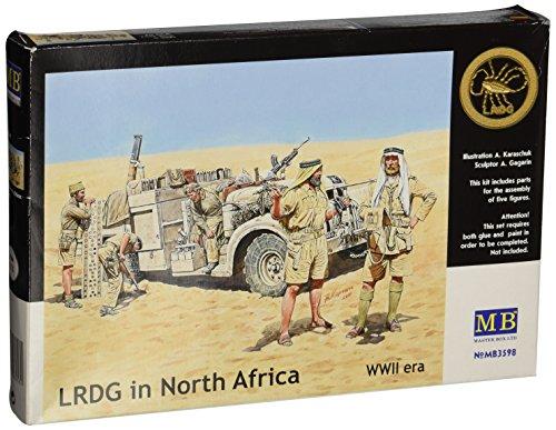 Master Box WWII Long Range Desert Group (LRDG)(5) Figure Model Building Kits (1:35 -