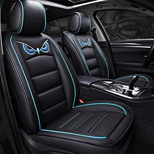Seat covers, leather seat cushions for seats and rear seats with seat covers (color: blue):