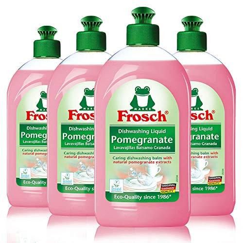 Frosch Natural Liquid Dish Soap, Vegan Hand Dishwashing Detergent, Pomegranate, 500 ml, Pack of - Baking Soda Dishwasher